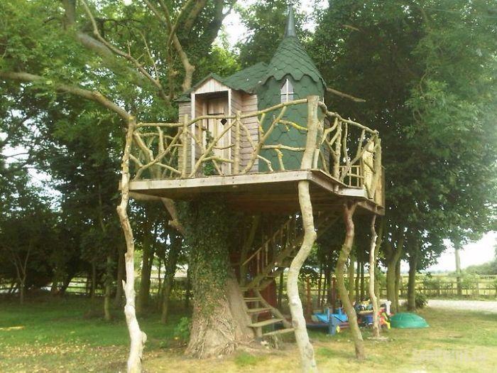 идеи для детской площадки дом на дереве