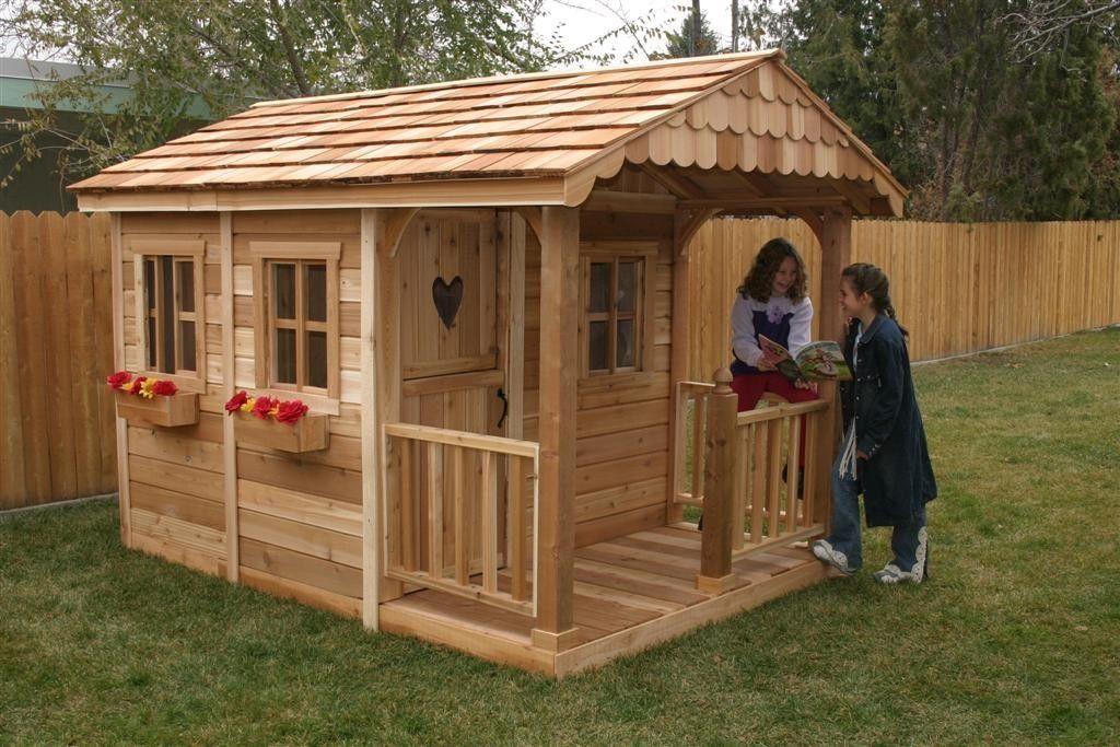 идеи для детской площадки уютный домик