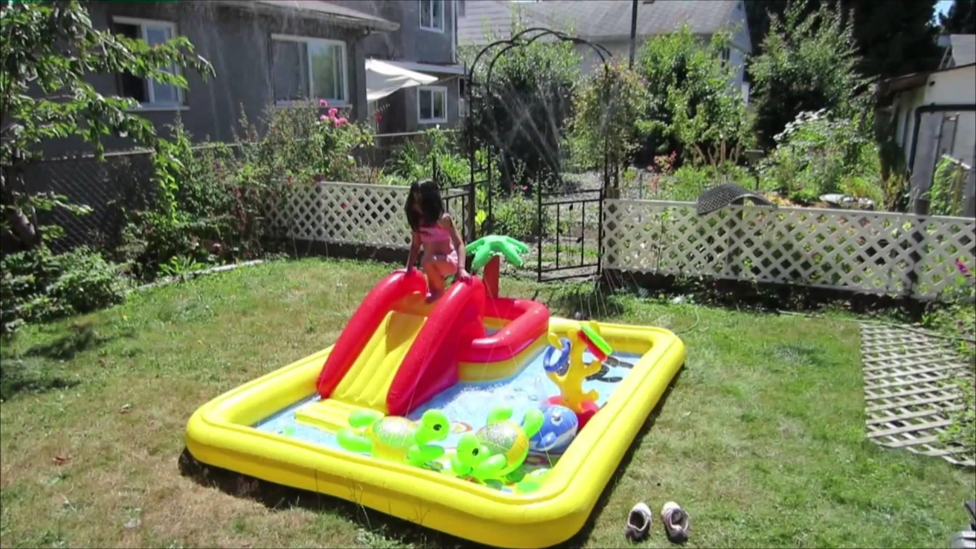 идеи для детской площадки надувная горка